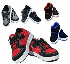 Baby Toddler Boy Girls Velcro Tennis Casual Black Shoes Size 4 to 9