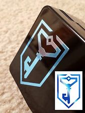 Ingress Resistance Vinyl Decal Sticker- Metallic Blue, Die-Cut Car Phone Laptop
