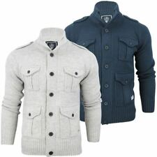 Mens Dissident 'Buffalo' Wool Mix Button Front Funnel Neck Cardigan