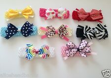 Animal Print Polka Dot Handmade Baby Girl Headbands with Crochet Elastic Band