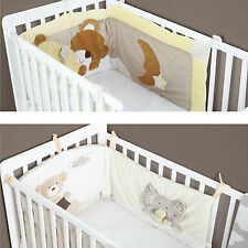 New MiniDream Baby Cot Bed Bumper Embroidered Luxury Nursery Bedding