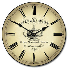 """Large wall  Cafe Clock 12""""- 48"""" Whisper Quiet, Non-Ticking"""