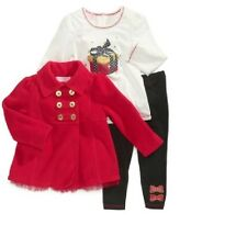 Kids Headquarters jacket Set 3-Piece red Infant Girls size 6/9M 12M 18M 24M NEW