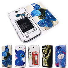 Butterfly Stitch Battery Back Door Cover Case for Samsung N7100 Galaxy Note 2