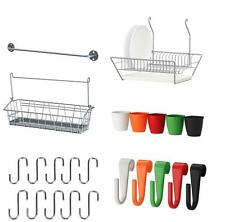"Ikea ""Bygel"" Series Kitchen Wall Storage, Container, Wire Basket, Rail, Hooks"