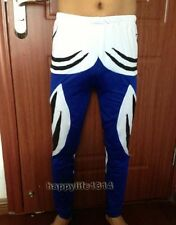 Lycra spandex zentai costume party wrestling tights/pants Blue/black/white