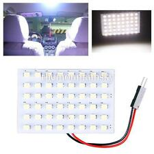 T10 48SMD LED Panel Car Interior Pure Warm White Light Bulb Dome BA9S Adapter TS