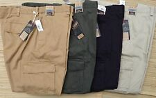 ROUNDTREE & YORKE BIG & TALL MENS DUTY RATED WASHED COTTON CARGO PANTS LIST $58