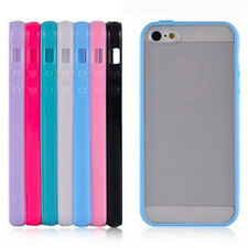 Hot Matte TPU Frame Bumper Plastic Hard Back Case Cover Skin for iPhone 5 5G 5S