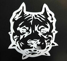 "PIT BULL DOGS & PUPPIES TRIBAL HEAD VINYL DECAL STICKER 5 1/2"" INCH"
