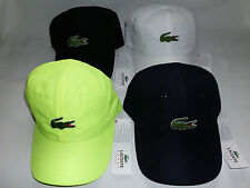 NEW 2014 MENS LACOSTE SPORT POLYESTER HAT W/ GREEN 5CM CROC LOGO, PICK A COLOR