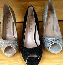 NEW BLOSSOM R50 Mirror Rhinestone 3.5 in high heels peep toe pump glitter shoes