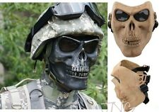 Skeleton Skull Cacique Warrior Airsoft Paintball Full Face Mask Protector UK