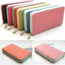 Genuine leather Women wallet Lady purse Card Long Clutch Bag Handbag Cow Leather
