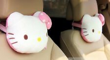 Cute Hello Kitty Car Seat Head Rest Cushion Pillow Neck Rest Pillow 1pc