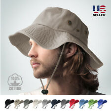BOONIE BUCKET HAT MILITARY FISHING CAMPING HUNTING WIDE BRIM BUCKET MEN OUTDOOR