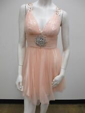 Beaded Halter With Back Strap Tulle Prom/Cocktail/Homecoming/Party/Evening Dress