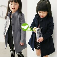 Girls Winter Coat Kid Jacket Thick Warm Trench Overcoat Cotton-padded dint