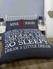 Mine And Yours Navy Duvet Set Double King