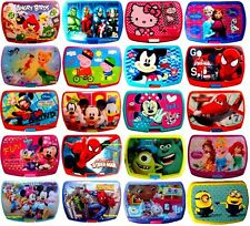 KIDS CHARACTER LUNCH BOX ASSORTED FOOD, FRUIT, SANDWICH CONTAINER SCHOOL PICNIC