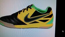 New Men's NIKE NIKE5 LUNAR GATO Indoor Gym Soccer Shoes Black Yellow Lime
