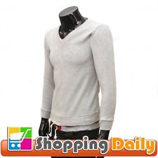 Mens Casual Stylish Knit Fashion Slim Fit V-neck Bottoming Knit Sweater