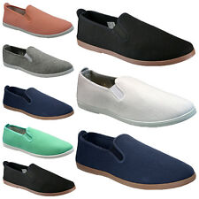 LADIES SUMMER ESPADRILLES CANVAS PLIMSOLLS SLIP ON WOMENS PUMPS TRAINERS SHOES