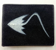 NEW! GENUINE STINGRAY LEATHER WALLET,BI-FOLD ,COIN PURSE ZIPPER,CARD HOLDER (D)