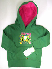John Deere Green Hoodie with Farm Cutie Graphic Toddler Size 2T-4T FTF230G