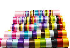 25 Yards All Colors Satin Ribbons Size 6-50mm Wedding Party Decoration DIY Craft