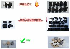 GAS FIRE INSERTS COALS/LOGS/STONES GENERIC FIT WIDE RANGE LONG LIFE