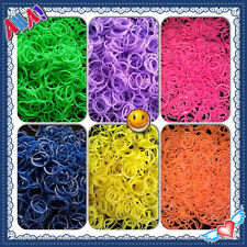 Wholesale Chocolate Scented Rainbow Rubber Bands Refill Loom Bright Neon color