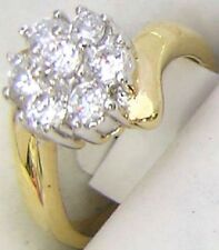 14K GOLD EP 1.62CT DIAMOND SIMULATED FLOWER RING size 6 - 10 you choose