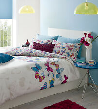 Catherine Lansfield Butterfly Fusion Duvet Set Easy Care Reversible Quilt Cover