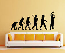 Wandaufkleber Wandtattoo Sticker Mensch Evolution Rapper Disco Musik HipHop Dj