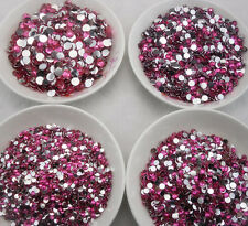 ss6 ss12 ss16 ss20 ss30 rose resin crystal facet silver flat back rhinestones