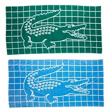Lacoste Pool Beach Towel - Green / Blue