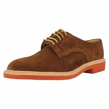 MENS LOAKE BROWN SUEDE LACE UP SHOE MORRISON IN F FIT