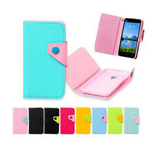 luxury Wallet Card Holder Full Cover Case For LG ZTE HUAWEI HTC NOKIA SAMSUNG