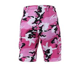 65420 Rothco Pink Camouflage Military BDU Button Fly Cargo Shorts