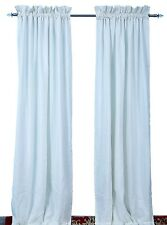 Best Quality White or Ivory Rod Pocket Faux Silk Curtains in Ready Made Size.