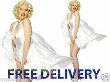 MARILYN MONROE LADIES 1950s 50s MOVIE STAR FANCY DRESS COSTUME WHITE DRESS ICON