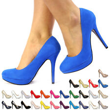 NEW WOMEN LADIES STILETTO HIGH HEEL CASUAL PARTY COURT SHOES SIZE UK 3 4 5 6 7 8