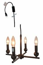 Urbanest Zio 4-light Plug-in Portable Chandelier, 2 Finishes Available