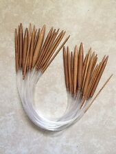 "Carbonized Bamboo Circular Knitting Needles 16"" - Your Choice Of Size -US Seller"