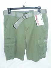 NWT Unionbay Young Mens Olive Green Cargo Shorts