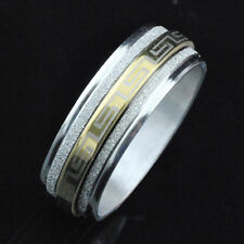 Charm Fashion Jewelry Stainless Steel Gold Spin Band Rings for Men's&Women's B