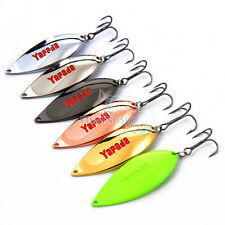 6pcs Lot Spinner Spoons Lures Predator Fishing Hook Baits for Casting & Trolling
