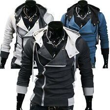 Sexy Mens Casual Blazer Hoodies Jacket Fitted Coat Hooded Outerwear Tops IN S~XL
