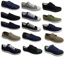 New Skater Canvas Plimsolls Slip On Pumps Plimsoles Trainers Shoes Casual Dunlop